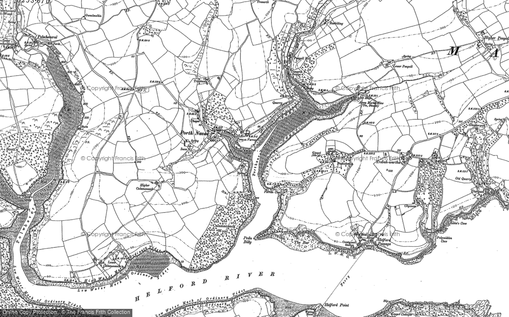 Old Map of Porth Navas, 1906 in 1906