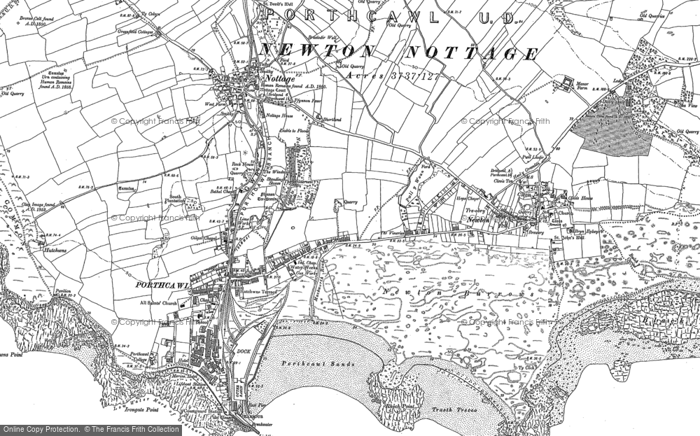 Old Map of Porthcawl, 1897 - 1914 in 1897
