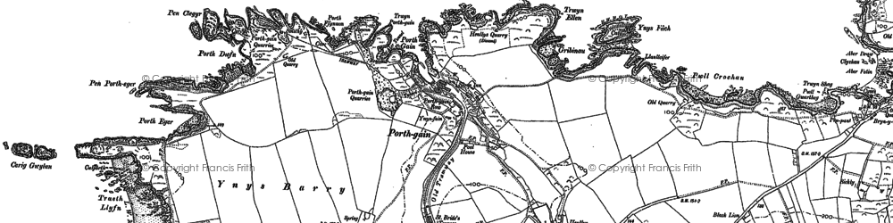 Old map of Porthgain in 1906