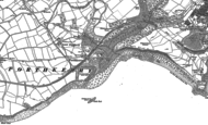 Old Map of Porthkerry, 1914 - 1915