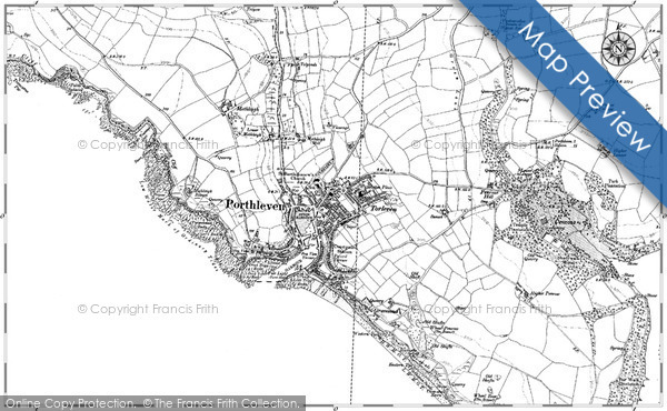Old Map of Porthleven, 1906 - 1907 in 1906