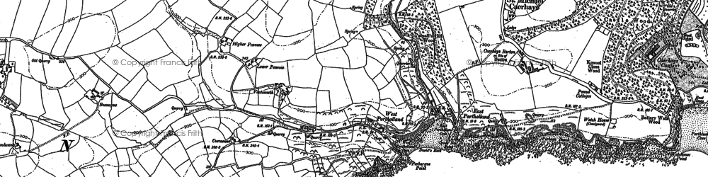Old map of West Portholland in 1906