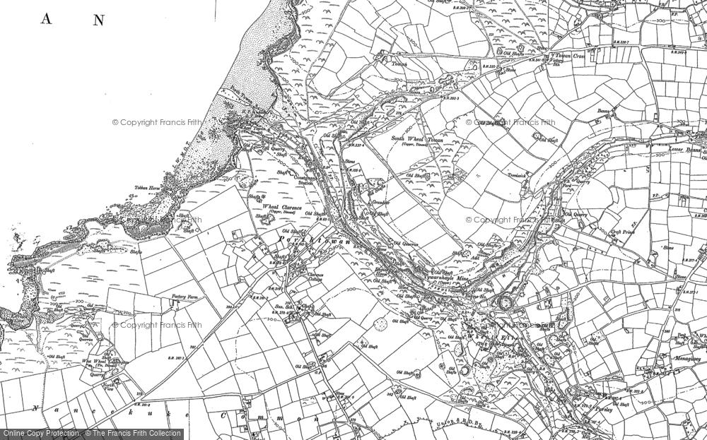Map of Porthtowan, 1906