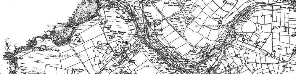 Old map of Porthtowan in 1906