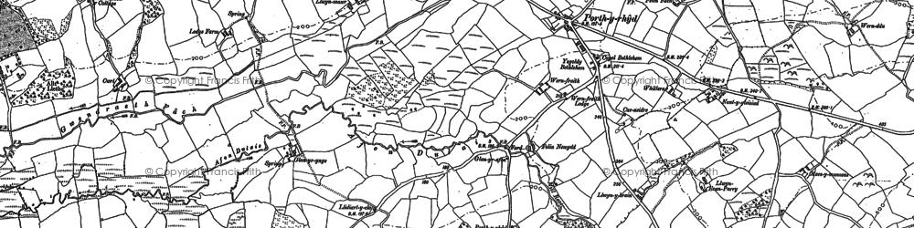 Old map of Lanfawr in 1886