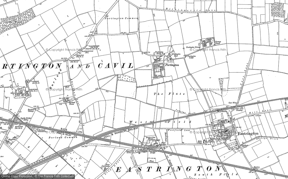 Old Map of Historic Map covering Asselby Grange in 1889