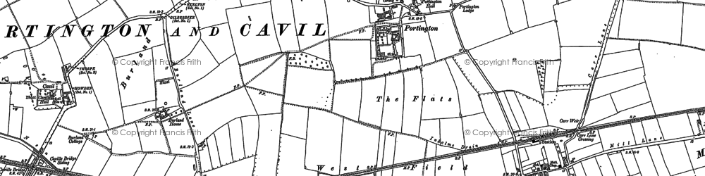 Old map of Yokegate in 1889