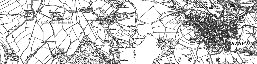 Old map of Ullock in 1898