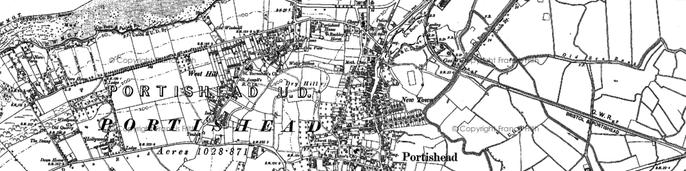 Old map of Woodhill Bay in 1883