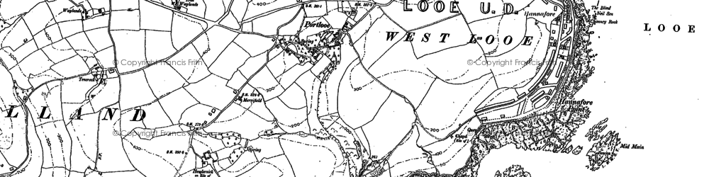 Old map of St George's in 1905