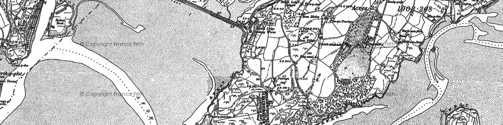 Old map of Portmeirion in 1887