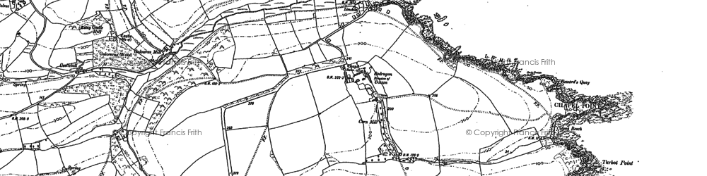 Old map of Gwinges in 1879