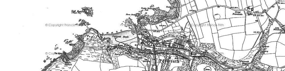 Old map of Portreath in 1906