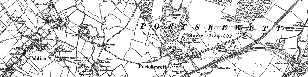 Old map of Leechpool in 1900