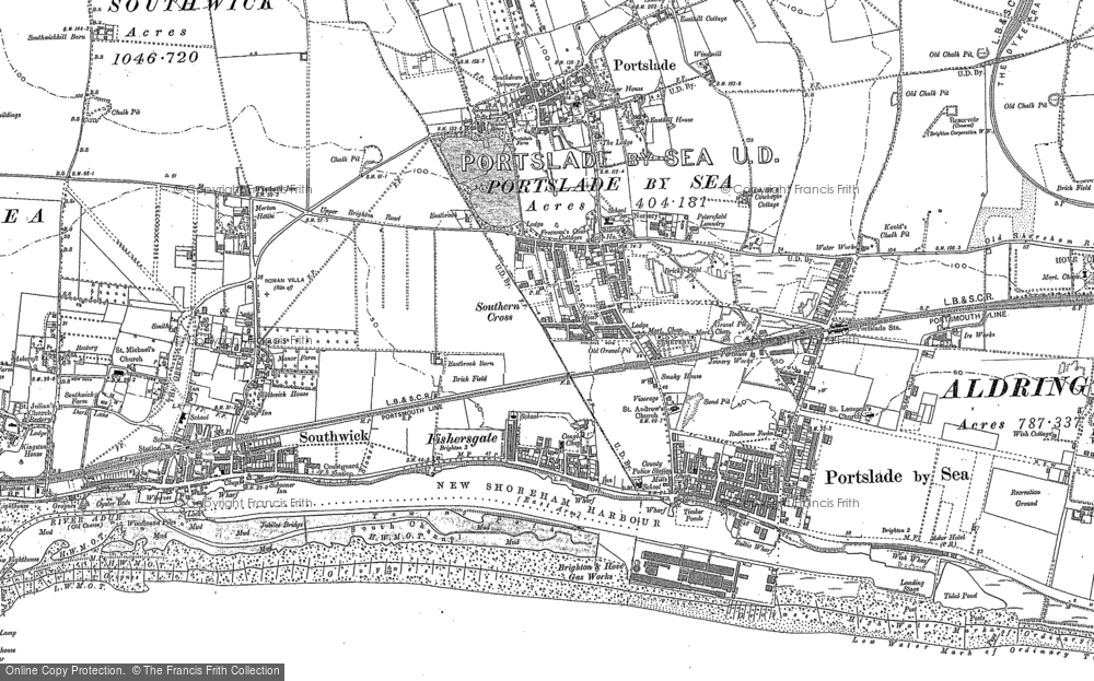 Old Map of Portslade-By-Sea, 1896 - 1909 in 1896