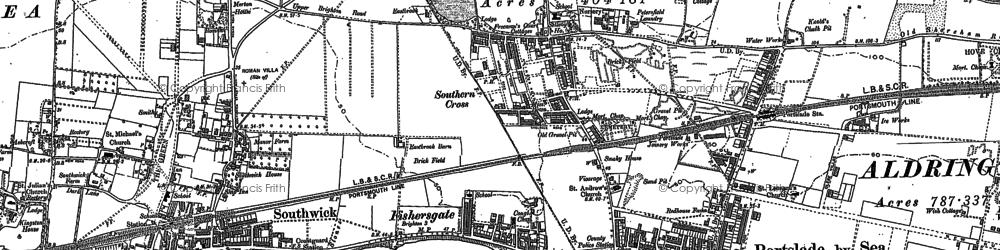 Old map of Portslade-By-Sea in 1896