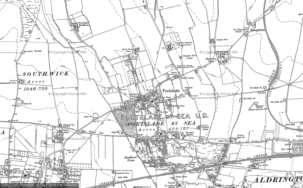 Old Map of Portslade Village, 1896 - 1909 in 1896