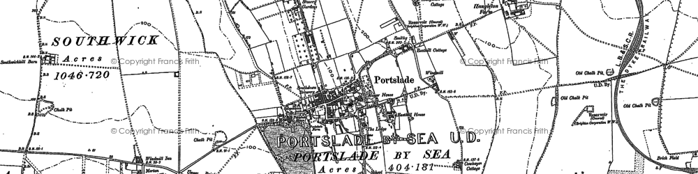Old map of Portslade in 1896