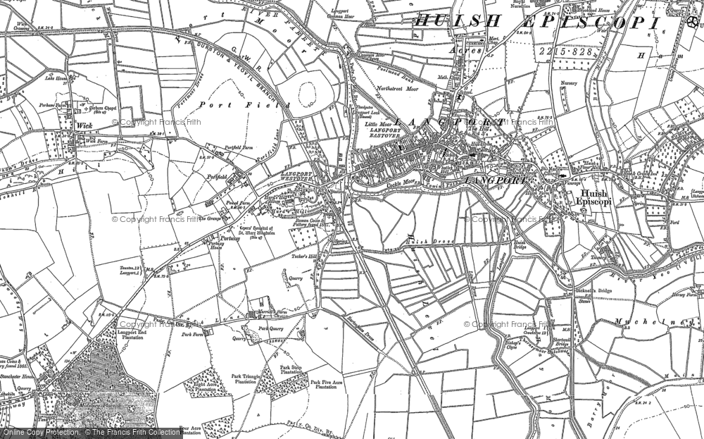 Old Map of Portway, 1885 - 1886 in 1885