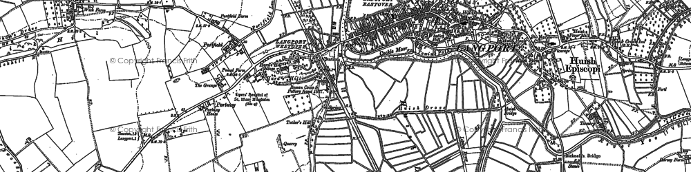 Old map of Portway in 1885