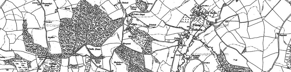 Old map of Tillerton in 1886