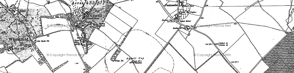 Old map of Adwell Cop in 1897