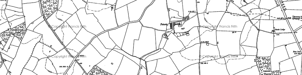 Old map of Banbury Lane in 1883
