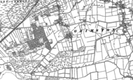 Old Map of Pott Row, 1884