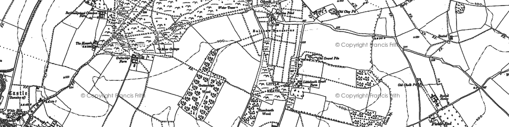 Old map of Potten End in 1897
