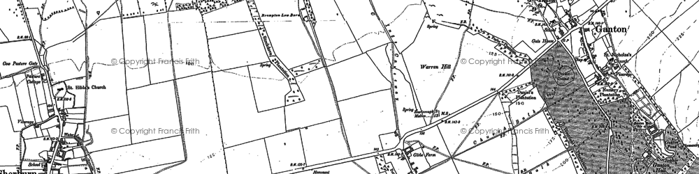 Old map of Allison Wold Fm in 1889