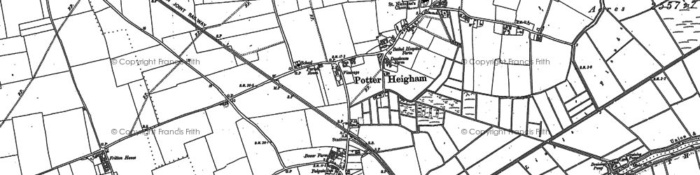 Old map of Fritton in 1880