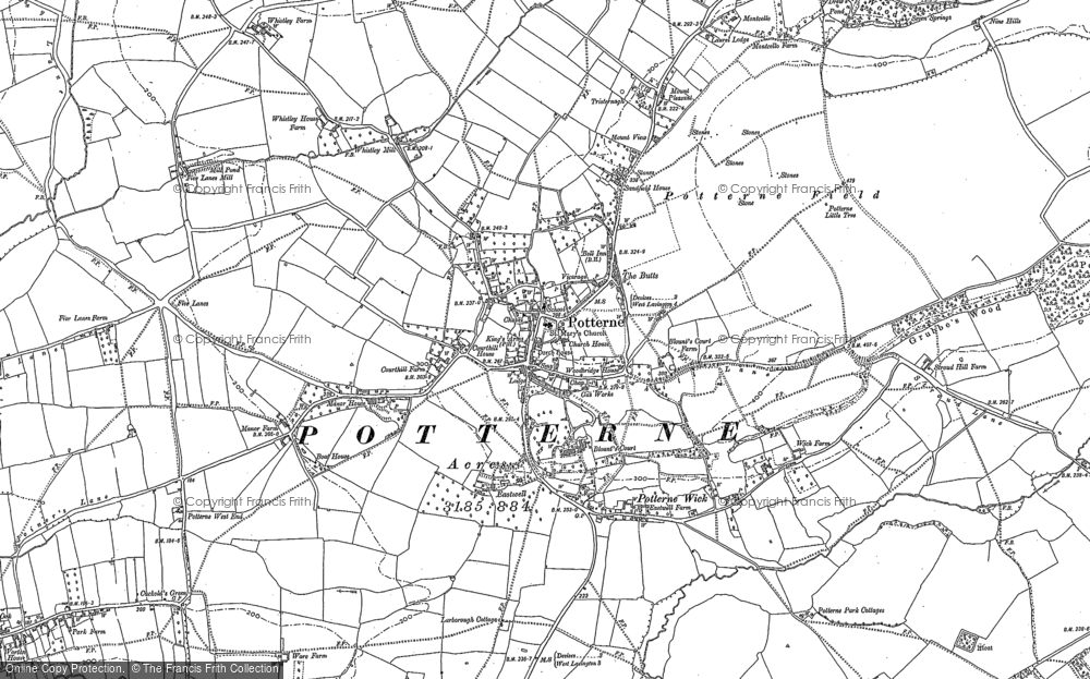 Old Map of Potterne, 1899 in 1899