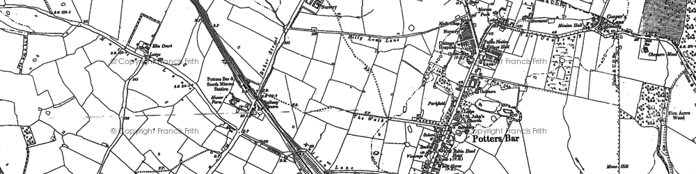 Old map of Wrotham Park in 1912