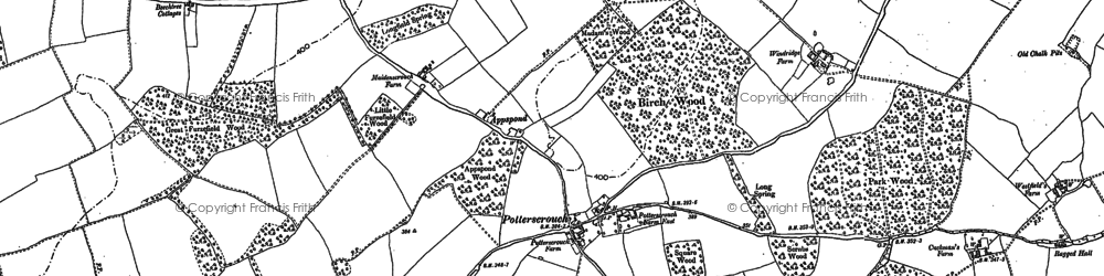 Old map of Potters Crouch in 1897