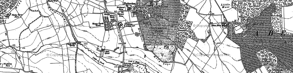 Old map of Whittle Car in 1890