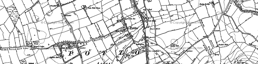 Old map of Toft Hill in 1892