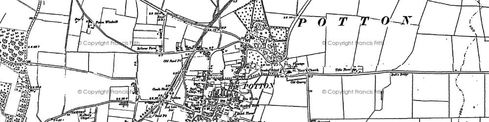 Old map of Potton in 1900