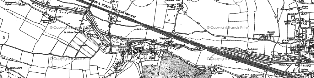 Old map of Chaulden in 1897