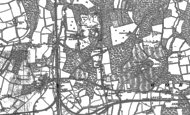 Old Map of Pound Hill, 1909
