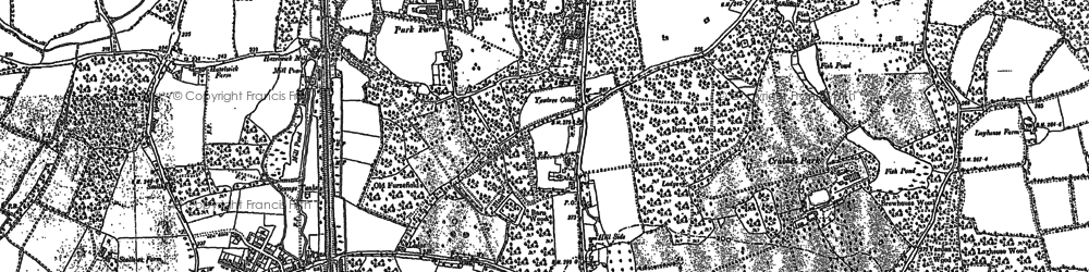 Old map of Pound Hill in 1909