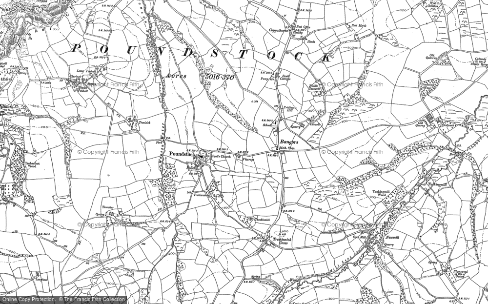 Old Map of Historic Map covering Bangors in 1905