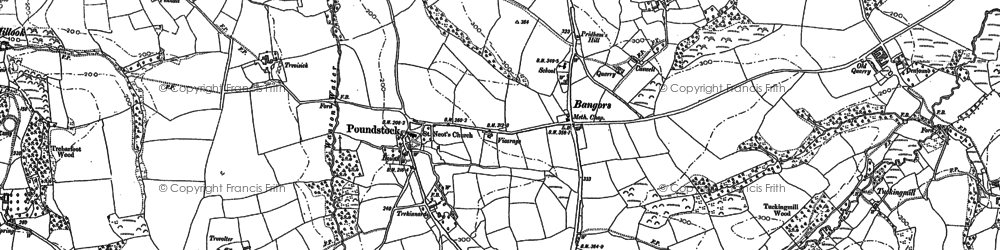 Old map of Bangors in 1905