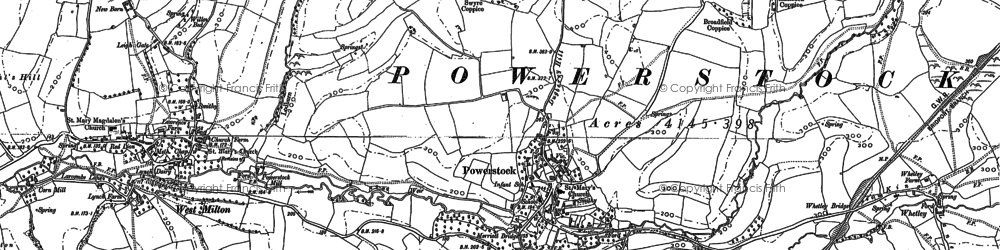 Old map of Whetley in 1886