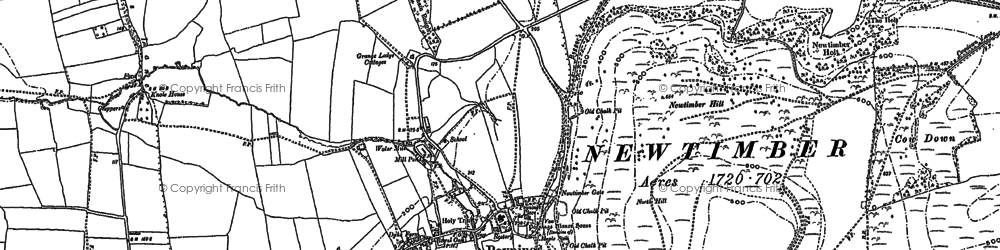 Old map of Poynings in 1896