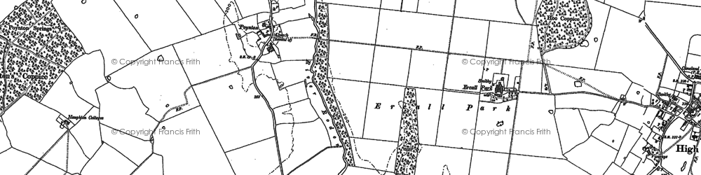Old map of White Lodge in 1881