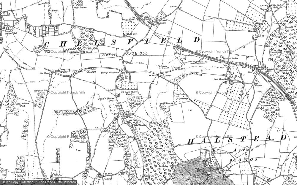 Old Map of Pratt's Bottom, 1895 - 1908 in 1895