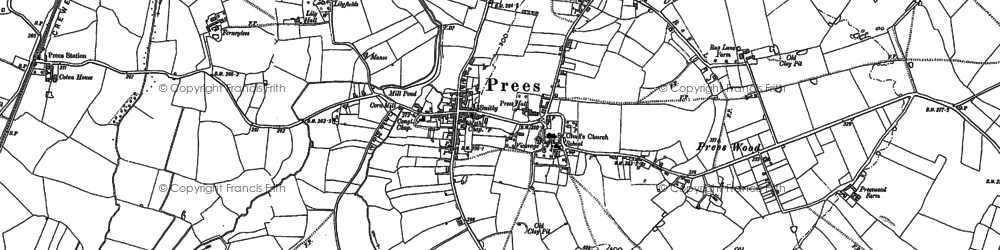 Old map of Lily Hall in 1880