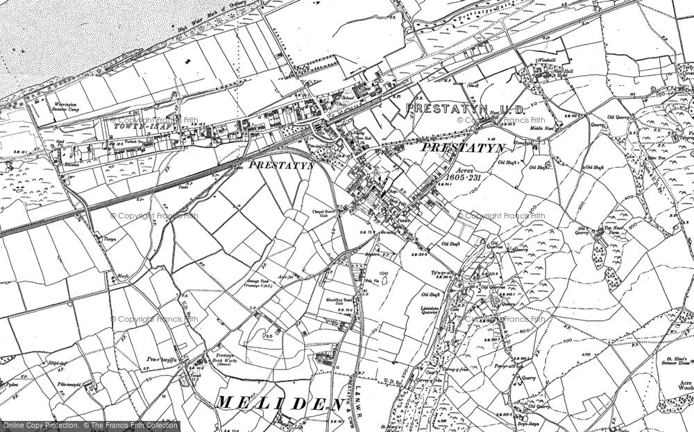 Old Map of Prestatyn, 1910 - 1911 in 1910