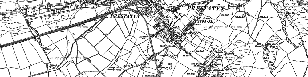 Old map of Prestatyn in 1910