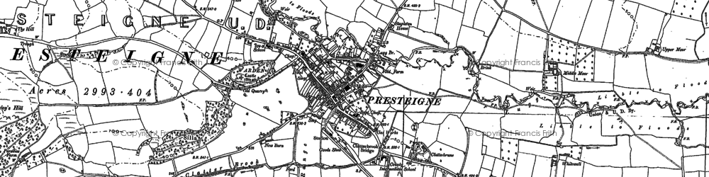 Old map of Presteigne in 1902